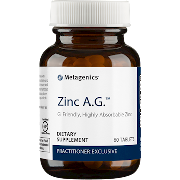 Zinc A.G. Metagenics,20 mg 60 tabs