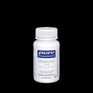 Melatonin,Pure Encapsulation, 3 mg 60 vcaps
