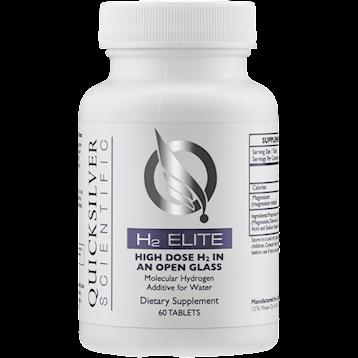 H2 Elite Molecular Hydrogen 60 tabs,Quicksilver Scientific