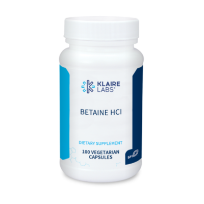 BETAINE HCI  100 capsules KLAIRE LABS