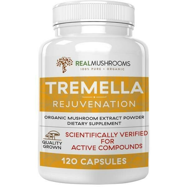 Organic Tremella Extract Capsules ,Real Mushrooms 120  capsules