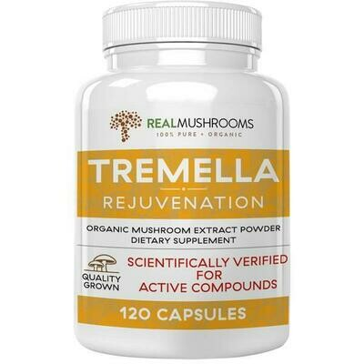 Organic Tremella Extract Capsules ,Real Mushrooms 120  capsules