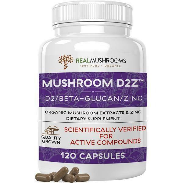 Mushroom D2Z 120 capsules Real Mushrooms