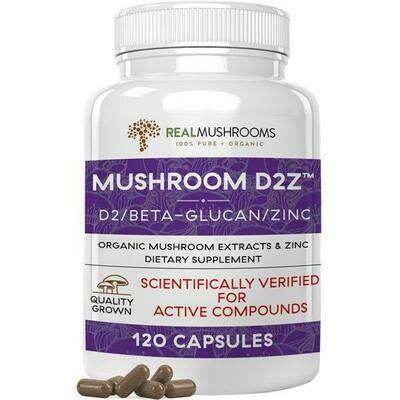Mushroom D2Z,Real Mushrooms 120 capsules