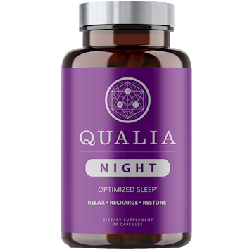 Qualia Night Optimized Sleep ,NEUROHACKER COLLECTIVE , 20 vegcaps