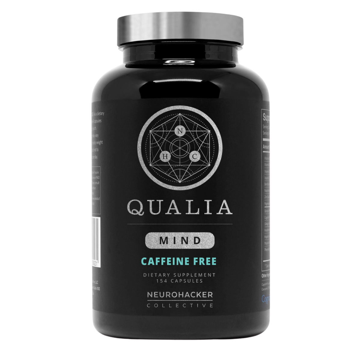 Qualia Mind Caffeine Free,NEUROHACKER COLLECTIVE , 154 vegcaps
