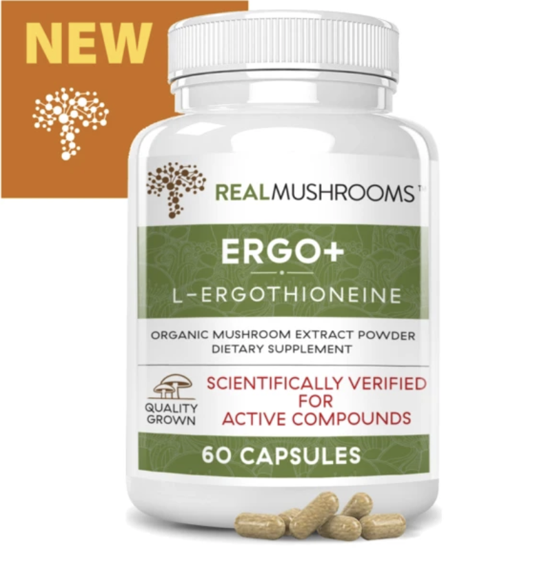 Ergo+L-Ergothioneine 300 mg 60 capsules Real Mushrooms
