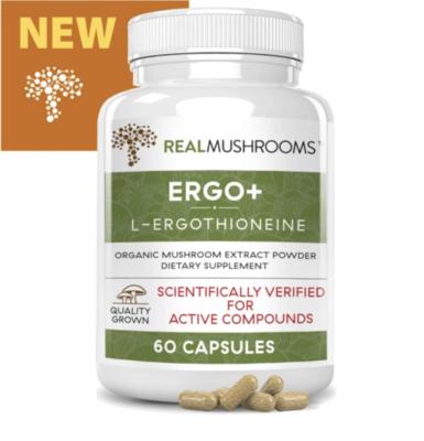Ergo+ Ergothioneine Supplement,Real Mushrooms,60 capsules