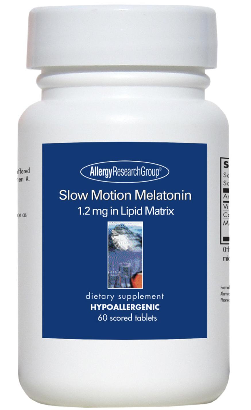 Slow Motion Melatonin 1.2 mg in Lipid Matrix 60 Scored Tablets Allergy Research Group