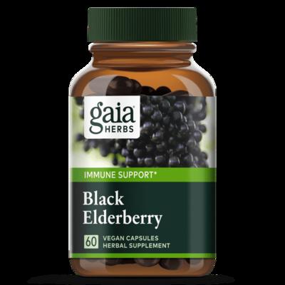 Black Elderberry 60 capsules Gaia Herbs