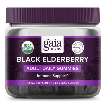 Black Elderberry Adult Daily 80 gummies Gaia Herbs
