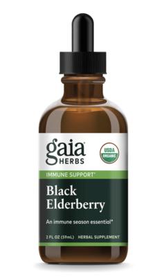 Black Elderberry Certified Organic 60 ml Gaia Herbs