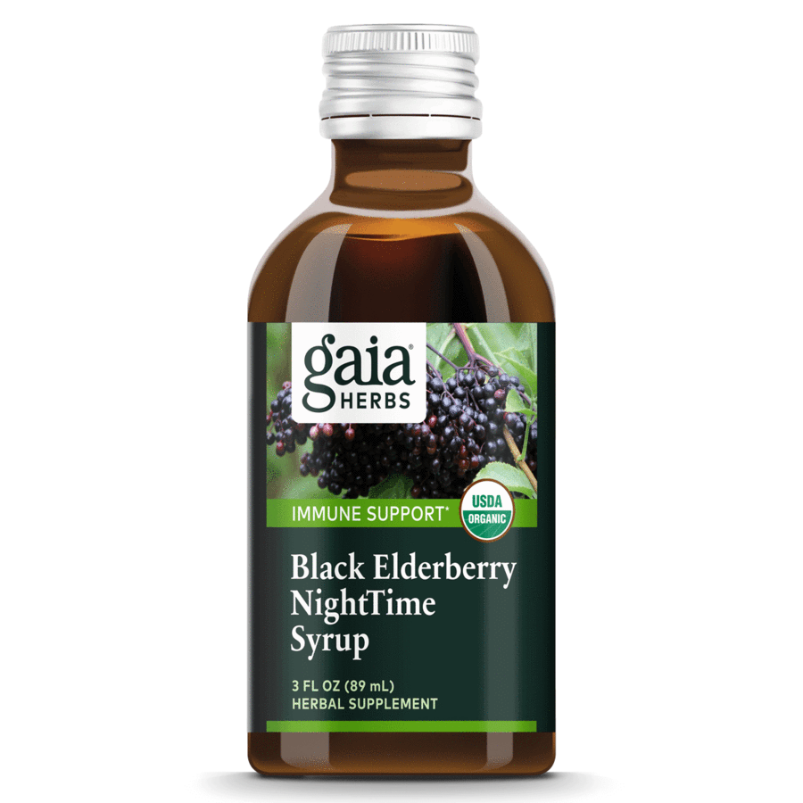 Black Elderberry NightTime Syrup 90 ml Gaia Herbs