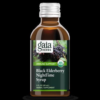 Black Elderberry NightTime Syrup 90 ml Gaia Herbs