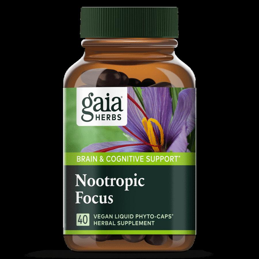 Nootropic Focus 40 capsules  Gaia Herbs