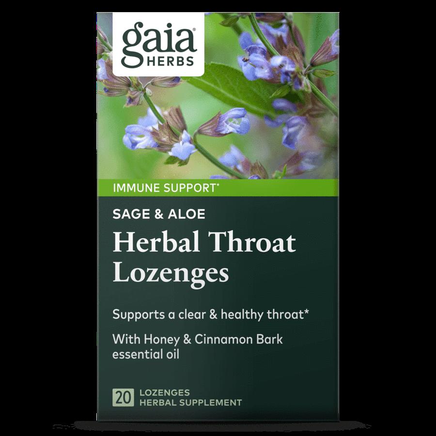 Sage and Aloe Herbal Throat 20  Lozenges Gaia Herbs
