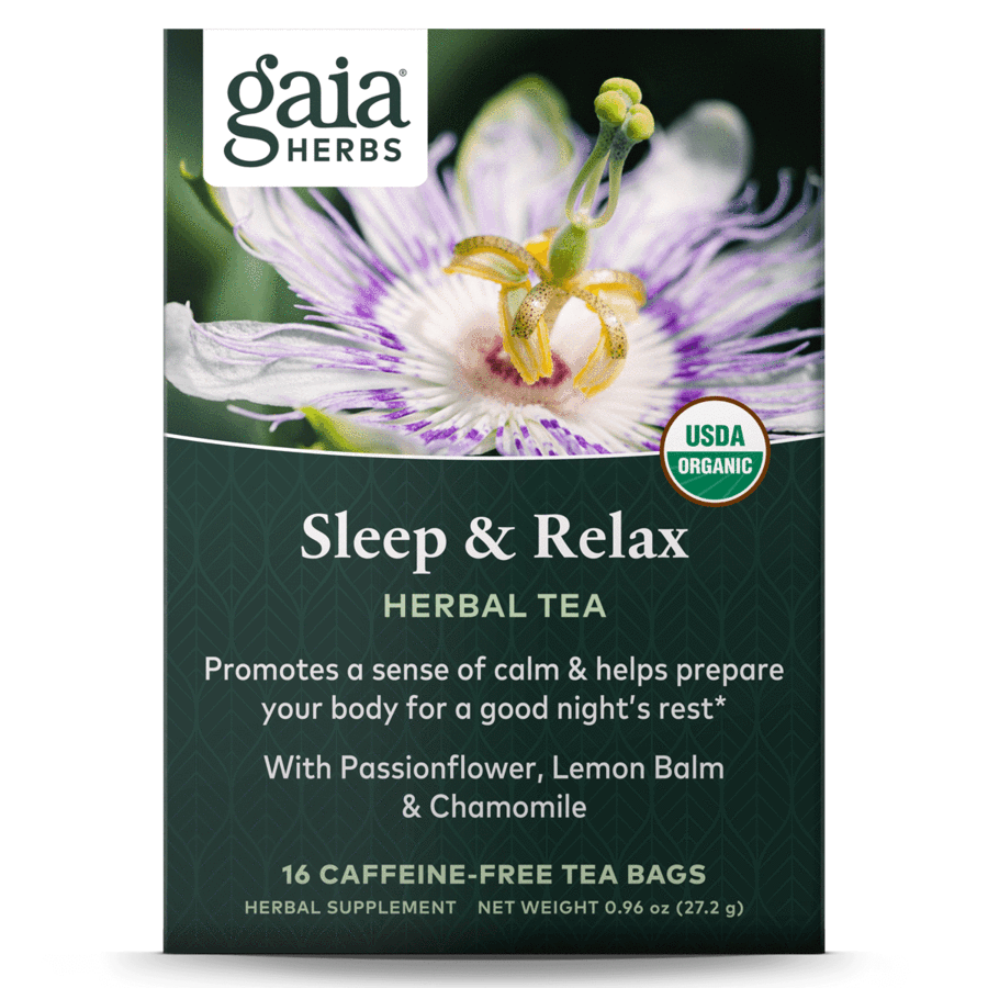 Sleep & Relax Herbal Tea 16 bags Gaia Herbs