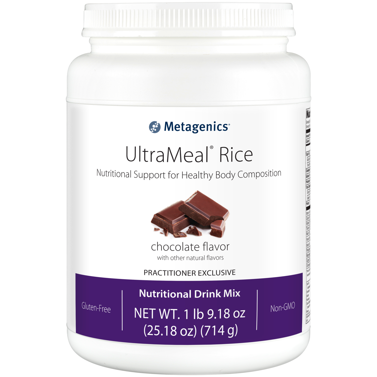 UltraMeal RICE Chocolate 714 g Metagenics