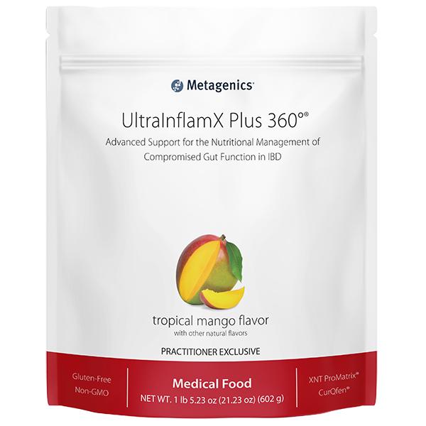 UltraInflamX Plus 360 Mango 14 Servings 602 g Metagenics