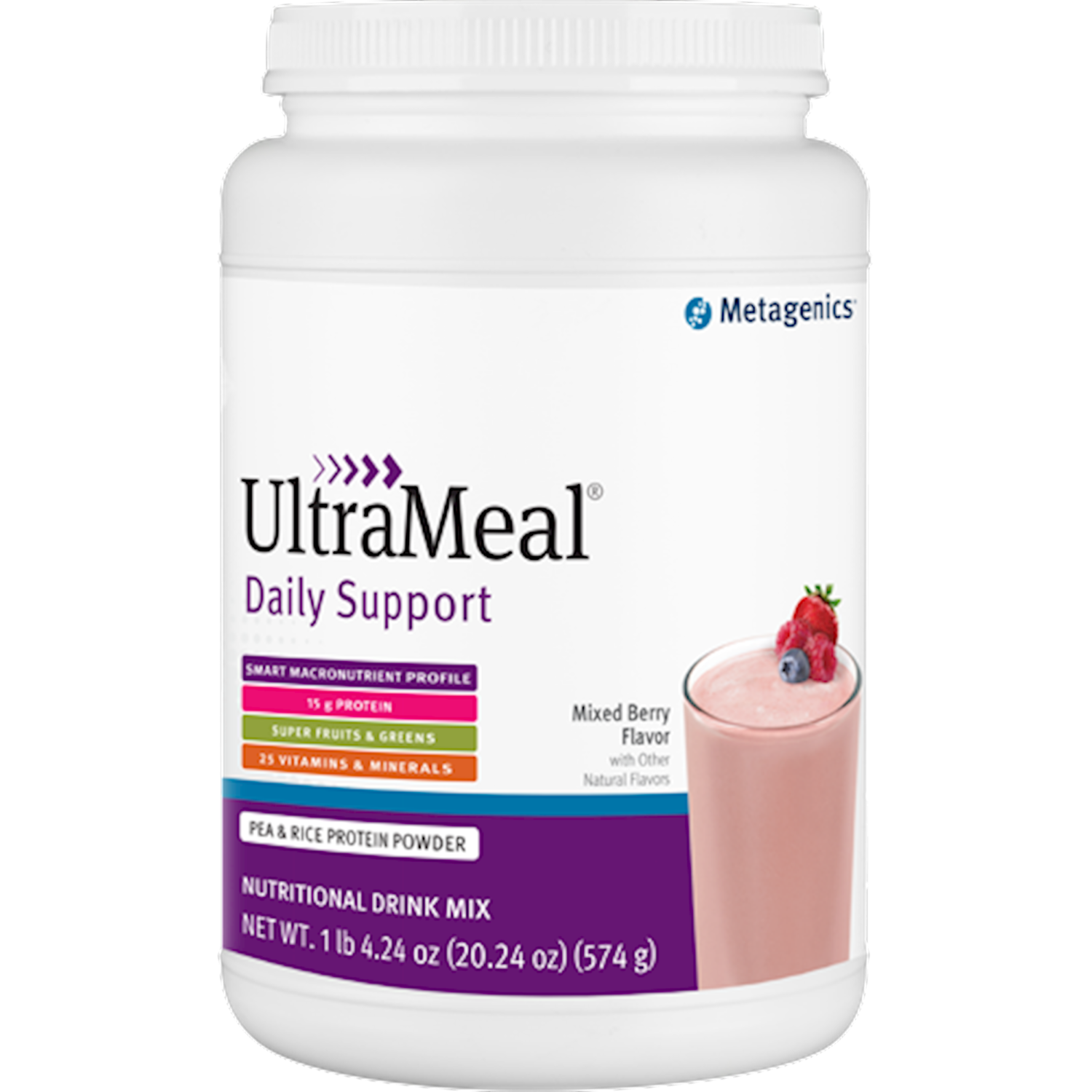 UltraMeal Daily Support Mix Berry 574g  Metagenics