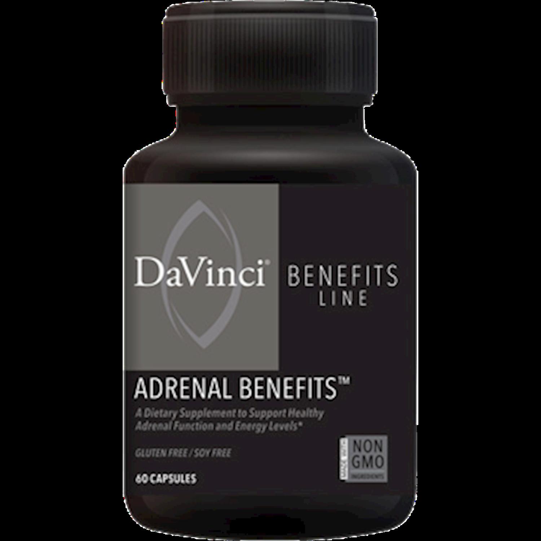 ADRENAL BENEFITS 60 Vegetarian Capsules DaVinci Laboratories