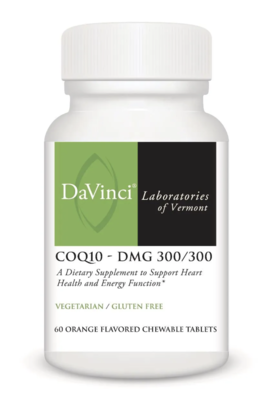COQ10 - DMG 300/300 60 Chewable Vegetarian Tablets DaVinci Laboratories