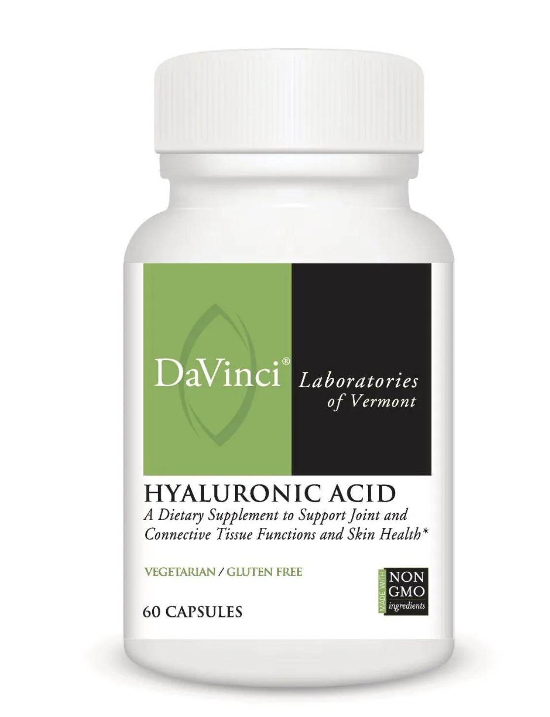 HYALURONIC ACID 60 Vegetarian Capsules DaVinci Laboratories