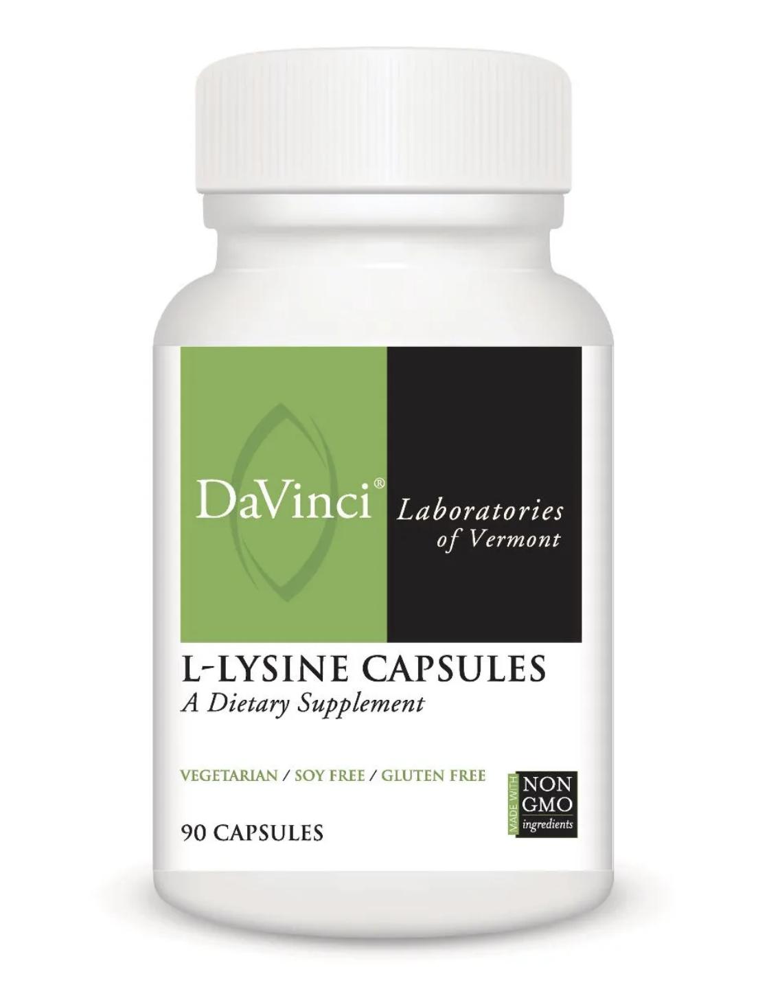 L-LYSINE CAPSULES 90 Vegetarian Capsules DaVinci Laboratories