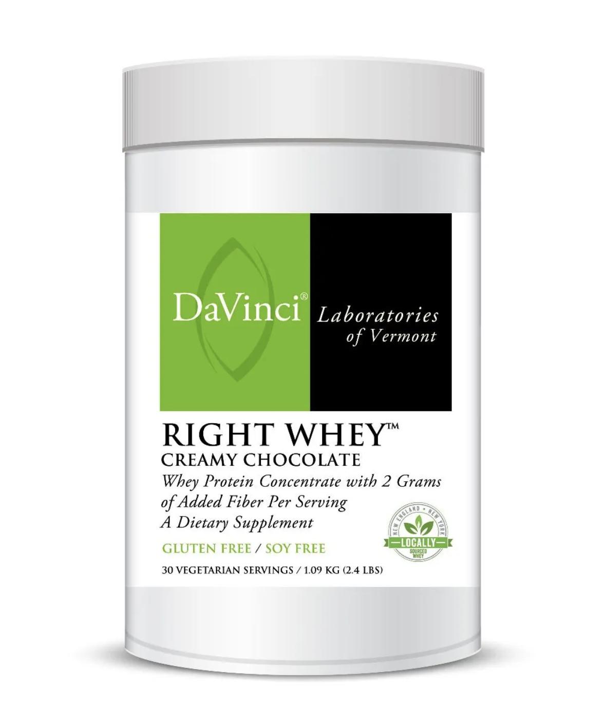 RIGHT WHEY CREAMY CHOCOLATE  30 Servings DaVinci Laboratories