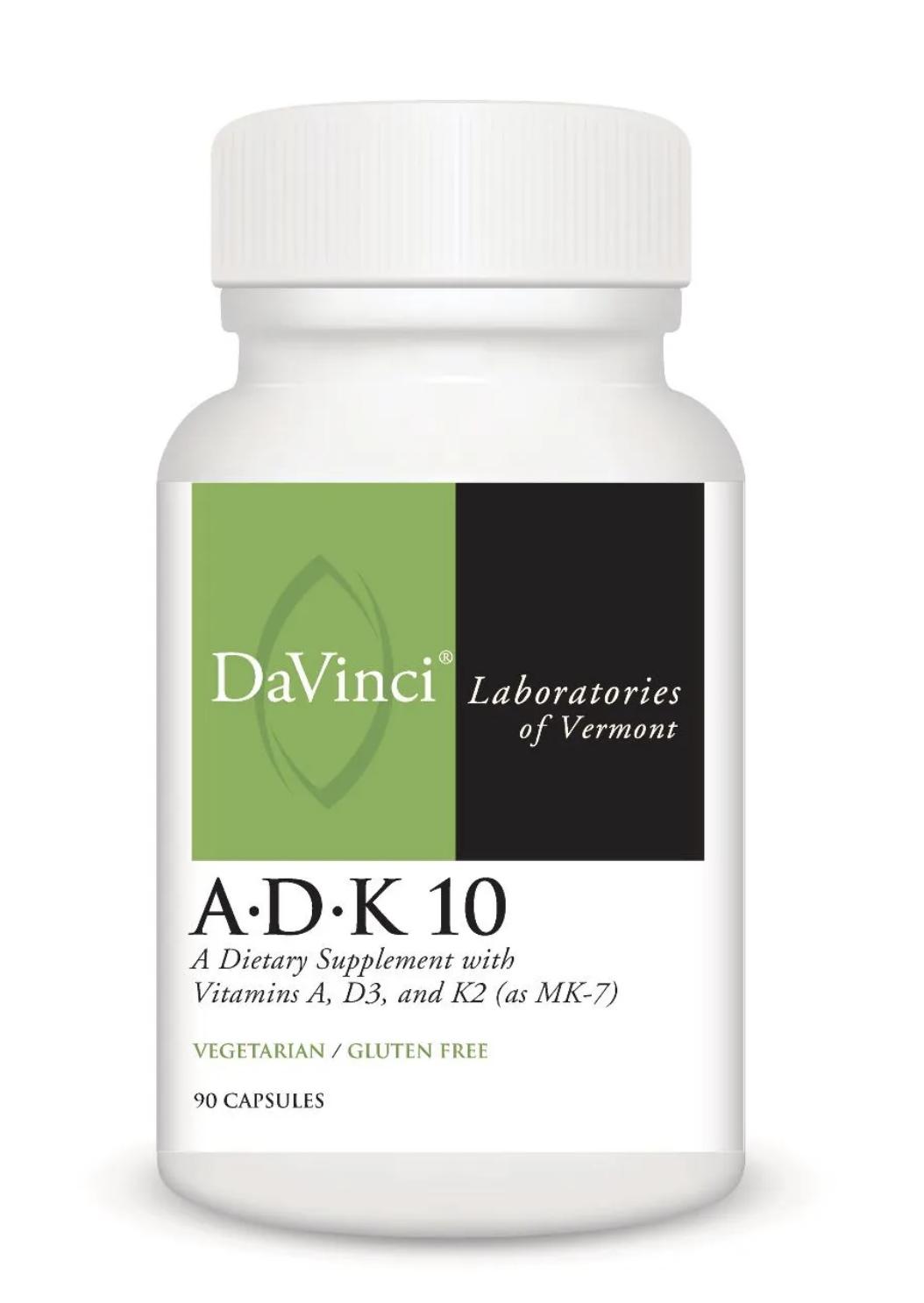 A.D.K 10  90 capsules DaVinci Laboratories