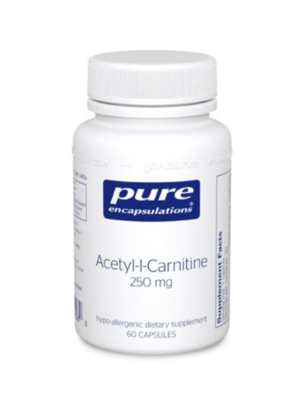 Acetyl-L-Carnitine 250 mg  60 vcaps Pure Encapsulations