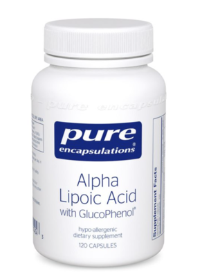 Alpha Lipoic Acid with GlucoPhenol 120 capsules Pure Encapsulations