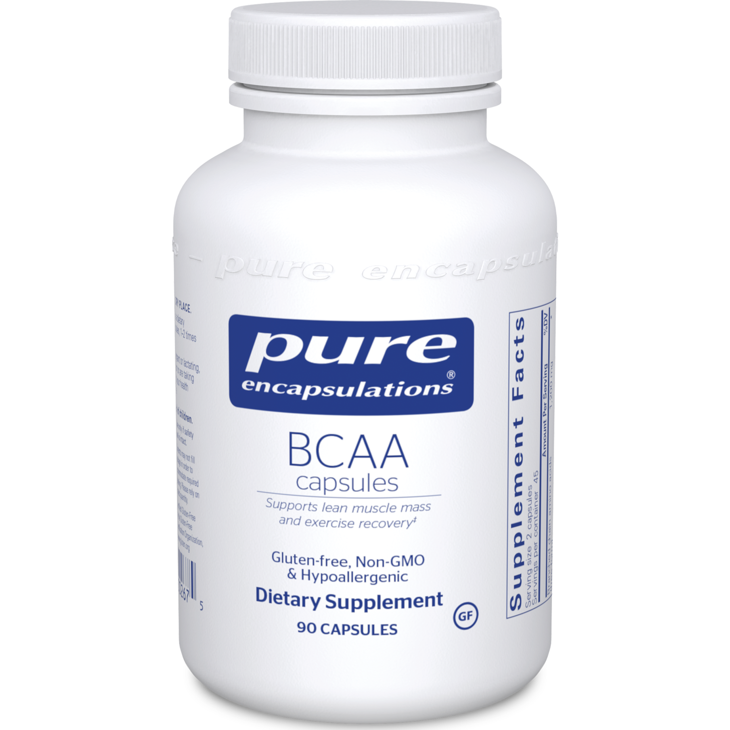 BCAA 600 mg 90 vegcaps Pure Encapsulations