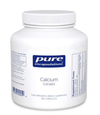 Calcium Citrate 150 mg 180 vcaps Pure Encapsulations