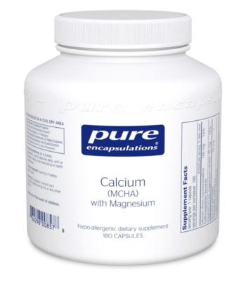 Calcium (MCHA) with Magnesium 180 vcaps  Pure Encapsulations