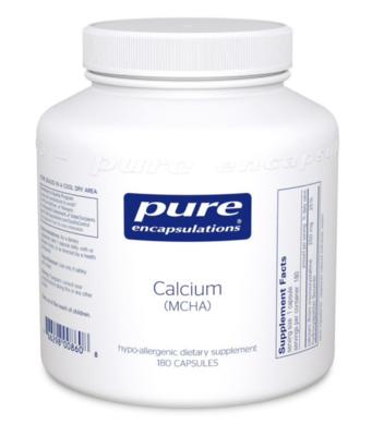 Calcium (MCHA) 180 vcaps  Pure Encapsulations