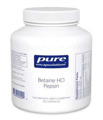 Betaine HCL Pepsin 250 capsules Pure Encapsulations