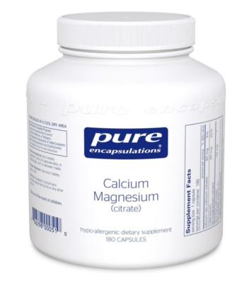 Calcium Magnesium (citrate) 80 mg 180 vcaps Pure Encapsulations