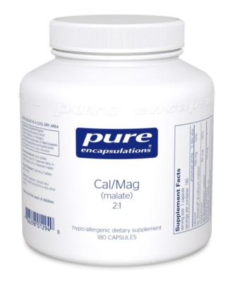 Calcium Magnesium (malate) 2:1 180 vcaps  Pure Encapsulations