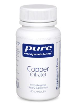 Copper (citrate) 60 vcaps Pure Encapsulations