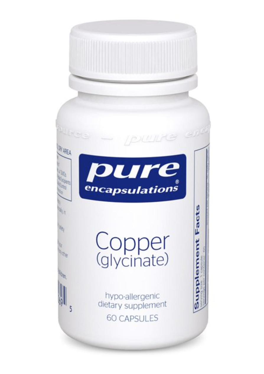 Copper (glycinate) 2 mg 60 vcaps Pure Encapsulations