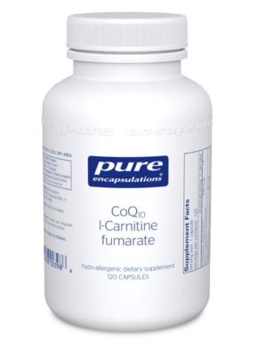 CoQ10 l-Carnitine fumarate 120 vegcaps Pure Encapsulations