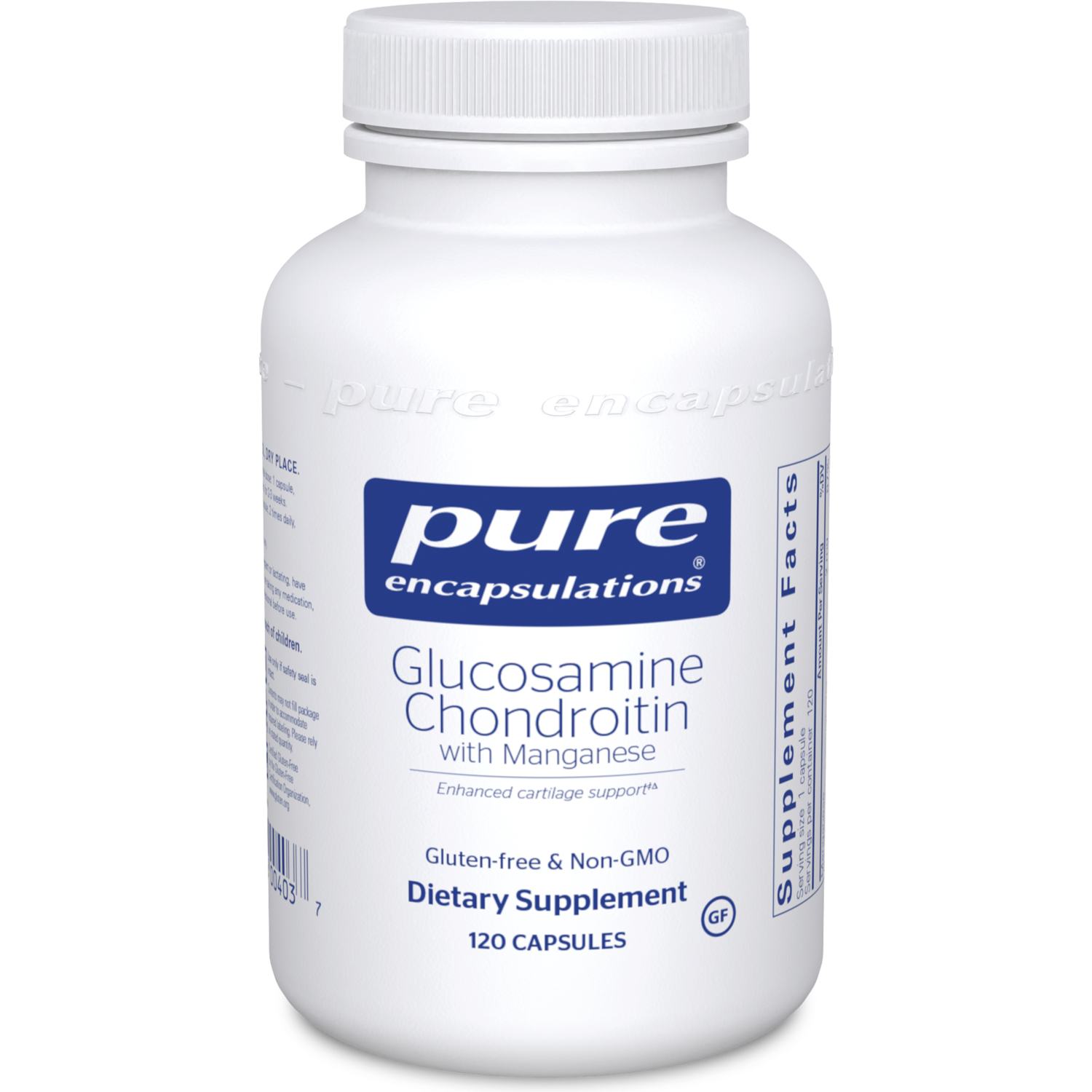 Glucosamine Chondroitin with Manganese  120 vcaps Pure Encapsulations