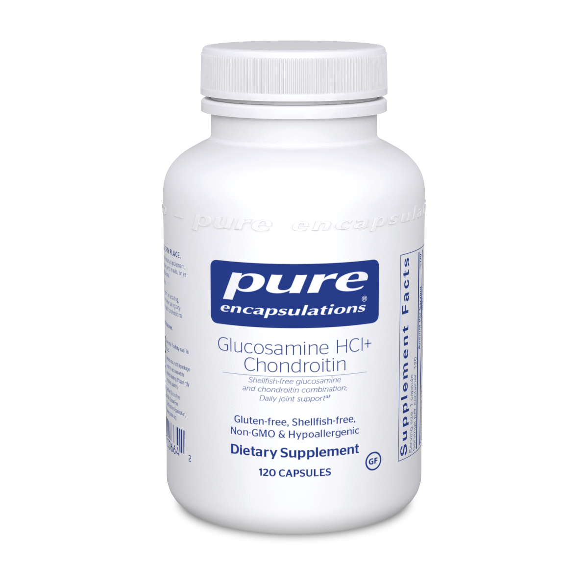 Glucosamine HCl Chondroitin 120 vcaps  Pure Encapsulations