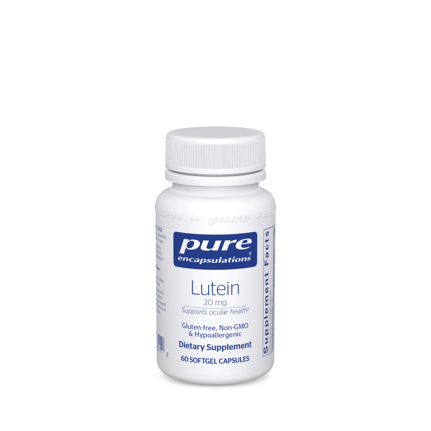 Lutein 20 mg 60 gels Pure Encapsulations