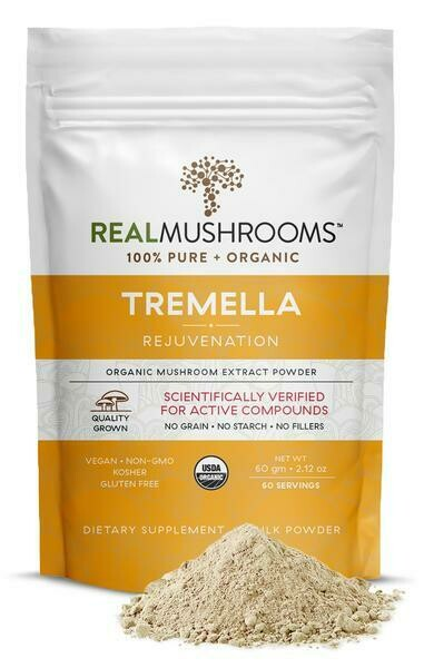 Organic Tremella Extract Powder 60 Gramm Real Mushrooms