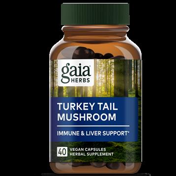 Turkey Tail Mushroom 400 mg 40 capsules Gaia Herbs