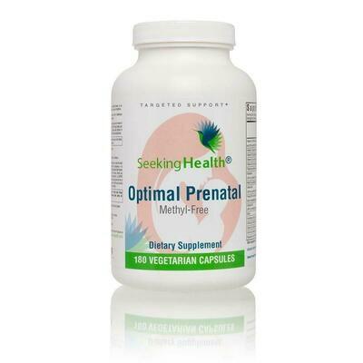 Optimal Prenatal Methyl-Free - 180 CAPSULES Seeking Health