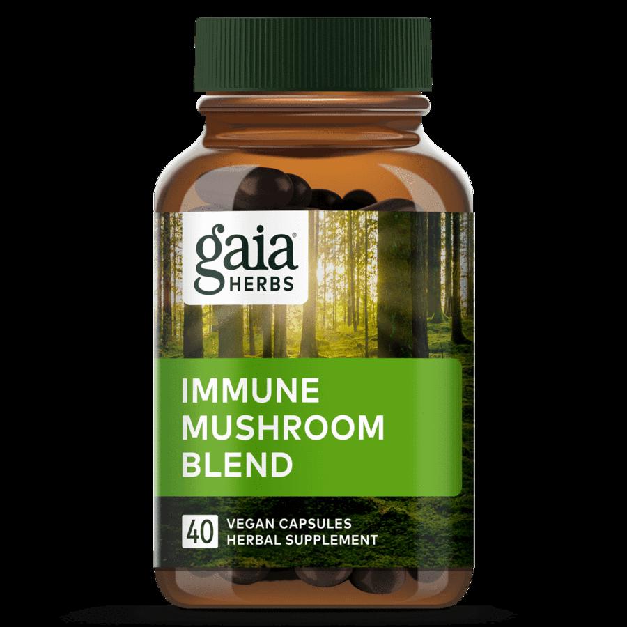 Immune Mushroom Blend 40 capsules Gaia Herbs