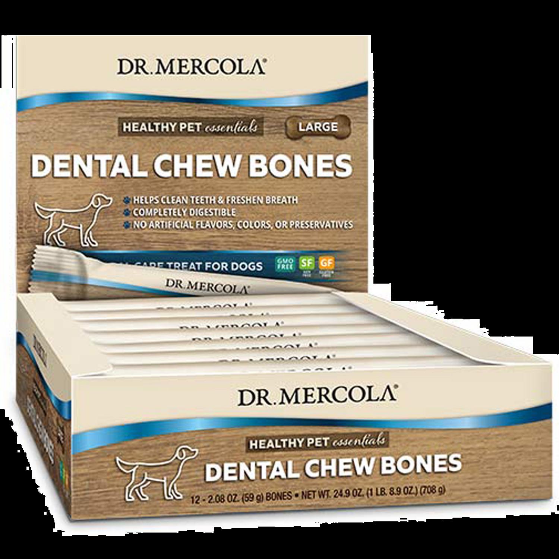 Dog Dental Chew Bones Large 12 pk Dr. Mercola